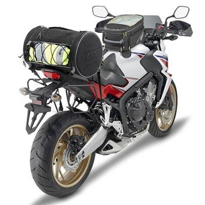 Bolsa Traseira Givi Cilíndrica 35L- Cabe capacete EA107B  - Nova Suzuki Motos e Acessórios