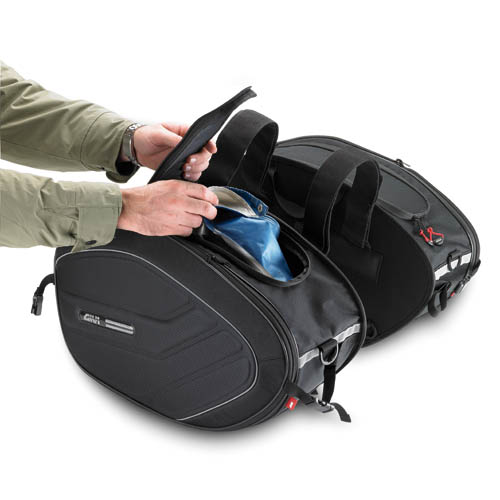 Bolsa Lateral (Alforges) Givi EA100 - 40lts  - Sob Encomenda  - Nova Suzuki Motos e Acessórios