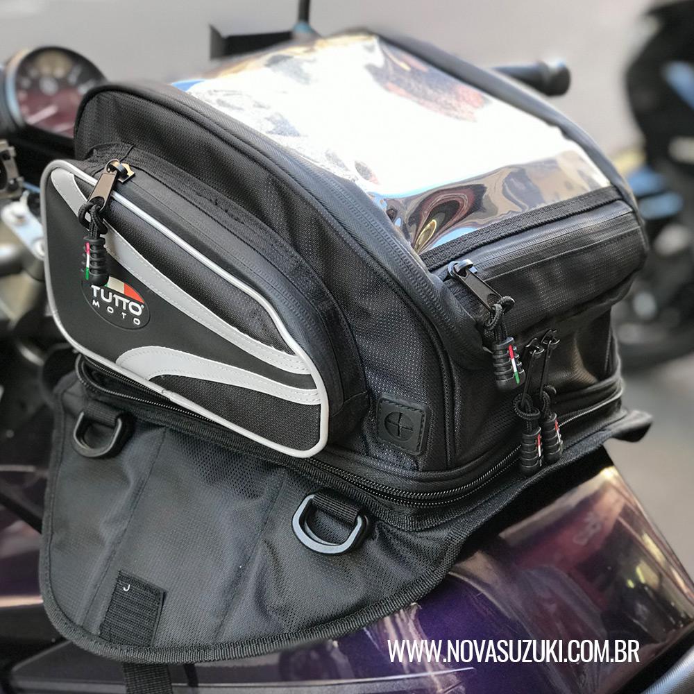 Bolsa Tutto Moto Magnética p/ tanque TB01 - 12LT Expansível (Bolsa Traseira) - Super Queima - Givi  - Nova Suzuki Motos e Acessórios