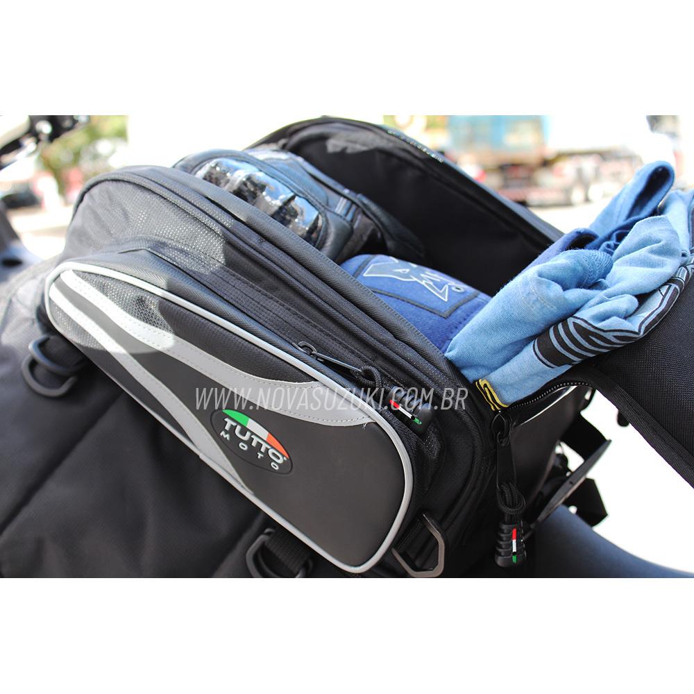 Bolsa Tutto Moto Magnética p/ tanque TB02 - 17LT Expansível (Bolsa Traseira) - Super Queima - Givi  - Nova Suzuki Motos e Acessórios