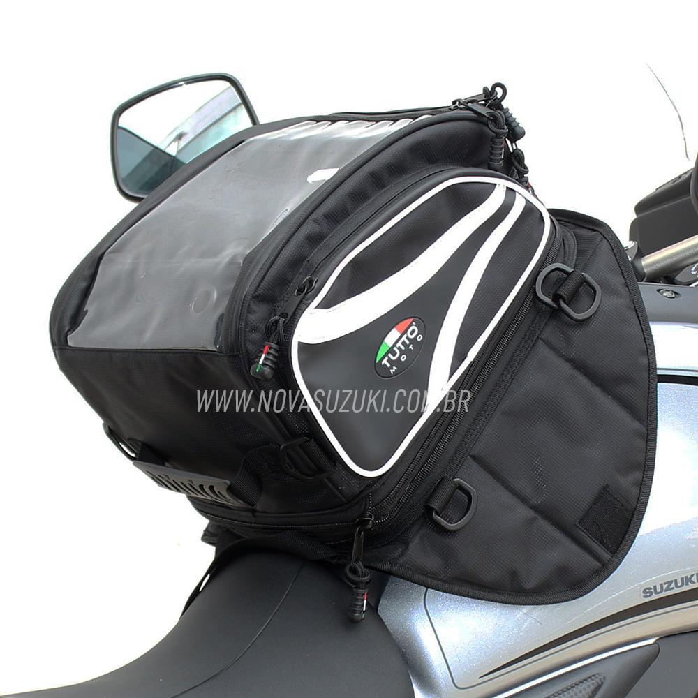 Bolsa Tutto Moto Magnética para tanque TB03 - 18LT Expansível (Mochila)   - Nova Suzuki Motos e Acessórios