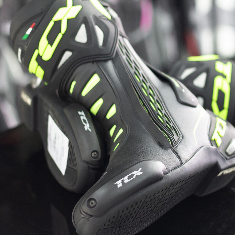 Bota TCX RT-Race Preta/Amarelo - Esportiva  - Nova Suzuki Motos e Acessórios