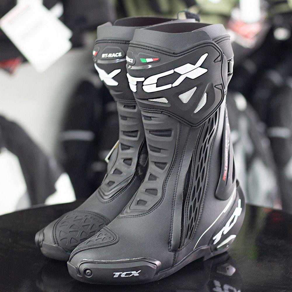 Bota TCX RT-Race Preta - Esportiva  - Nova Suzuki Motos e Acessórios