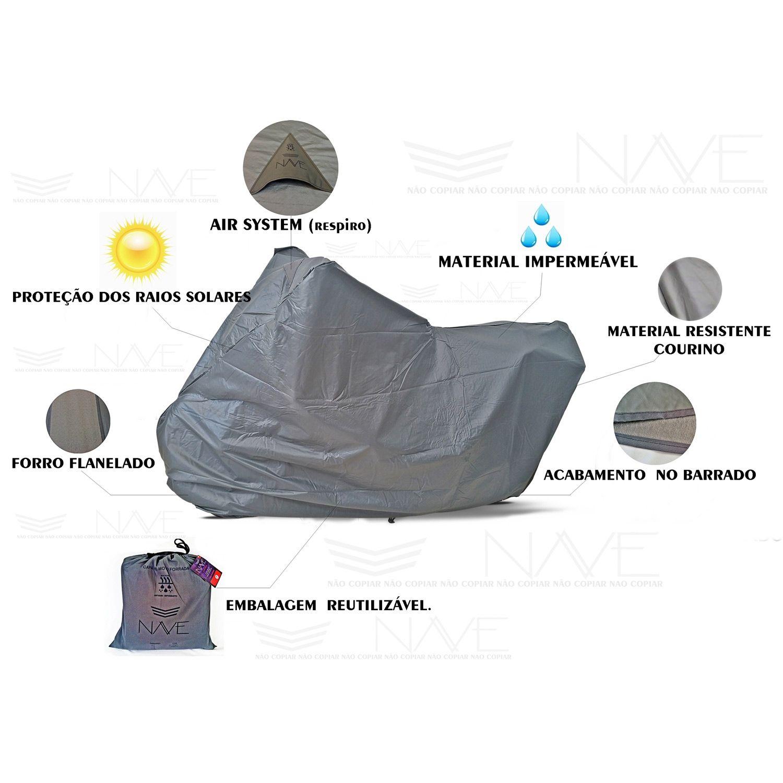Capa de Moto Nave Impermeável (para cobrir) - Scooters/Motos Naked  (Não risca)  - Nova Suzuki Motos e Acessórios