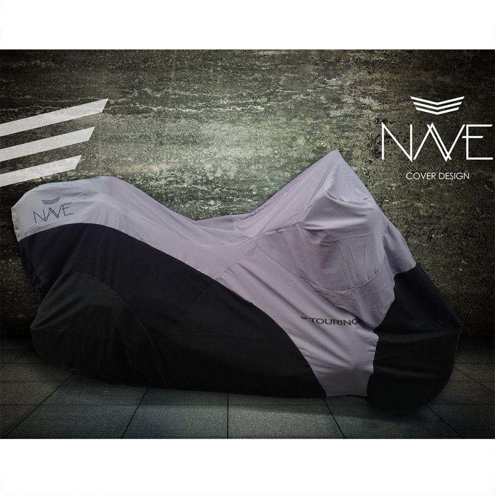 Capa de Moto Nave para Motos Custom (Repelente à água, Não risca) ( cor vermelha)  - Nova Suzuki Motos e Acessórios