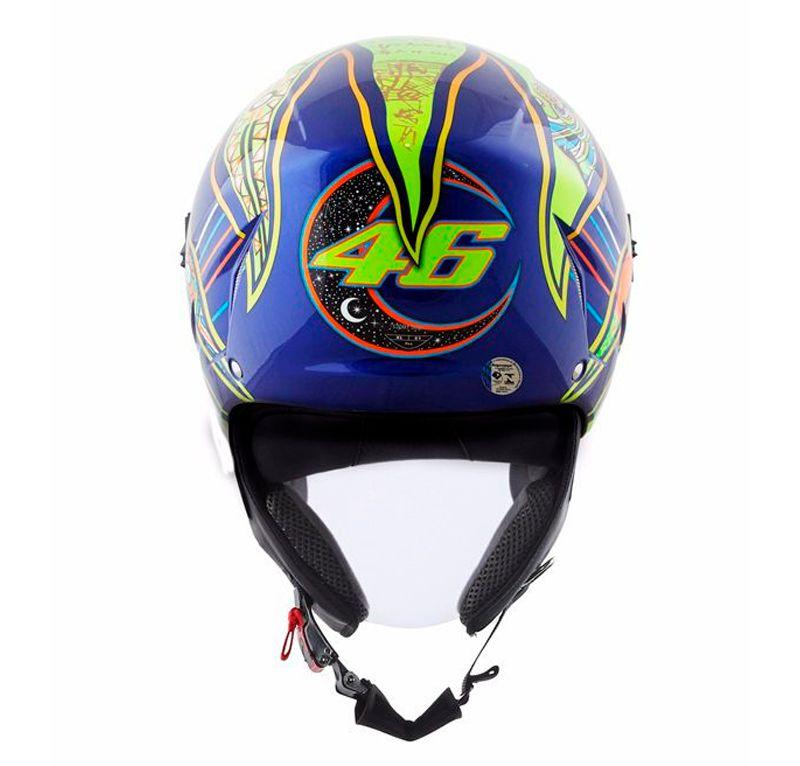 Capacete AGV Blade Five Continents Valentino Rossi - Aberto  - Nova Suzuki Motos e Acessórios