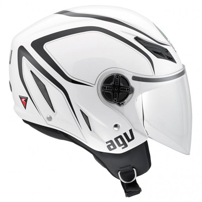 Capacete AGV Blade Tab White (Brilhante)  - Nova Suzuki Motos e Acessórios