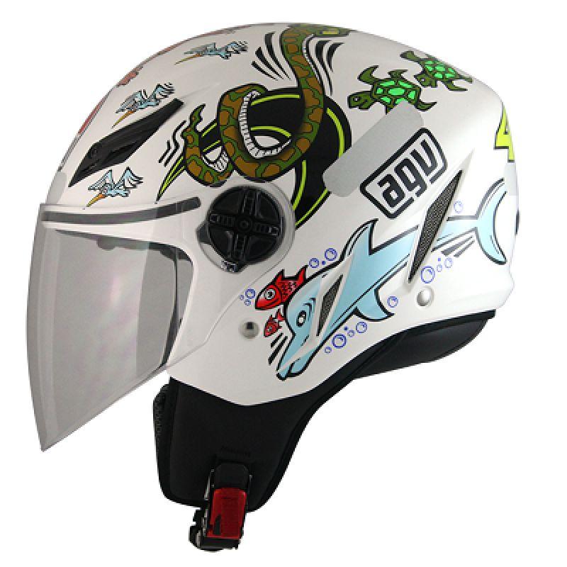 Capacete AGV Blade White Zoo Valentino Rossi  - Feminino - Só 60/L  - Nova Suzuki Motos e Acessórios