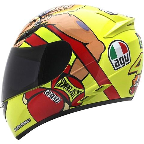 Capacete AGV K-3 Misano 2012 Valentino Rossi  - Nova Suzuki Motos e Acessórios