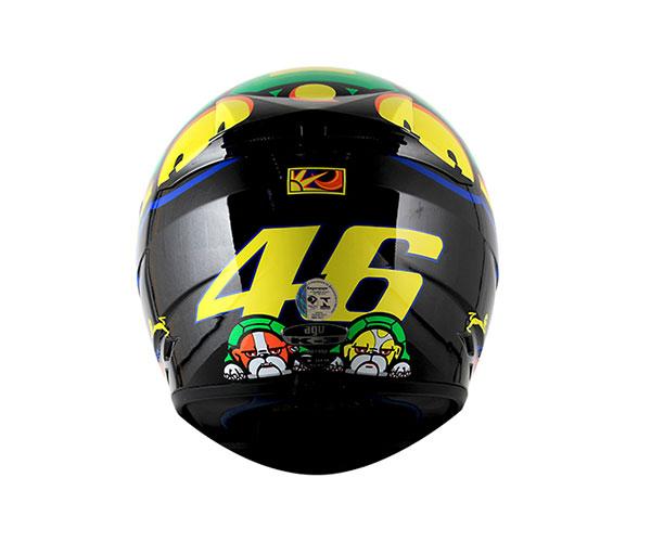 Capacete Agv K-3 Turtle Réplica Oficial Valentino Rossi  - Nova Suzuki Motos e Acessórios