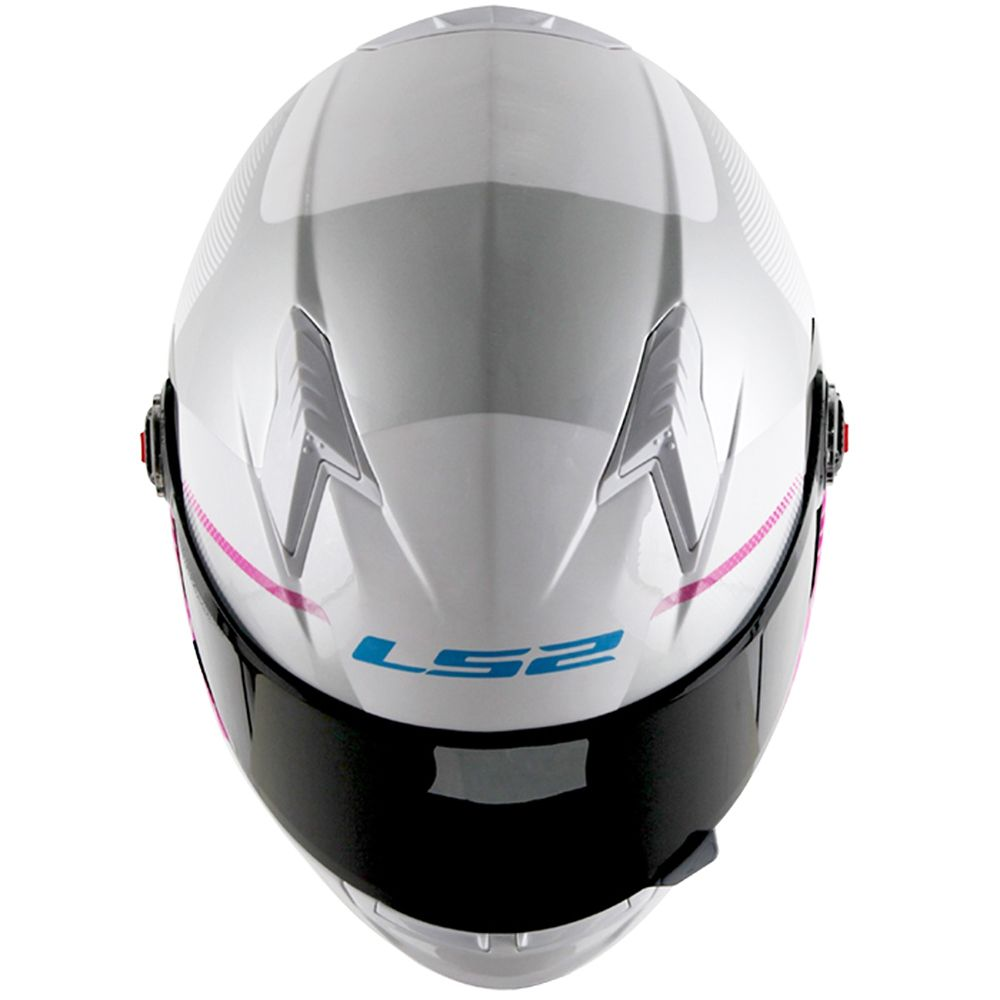 Capacete FF358 LS2 Tyrell Branco/Rosa Feminino  - Nova Suzuki Motos e Acessórios