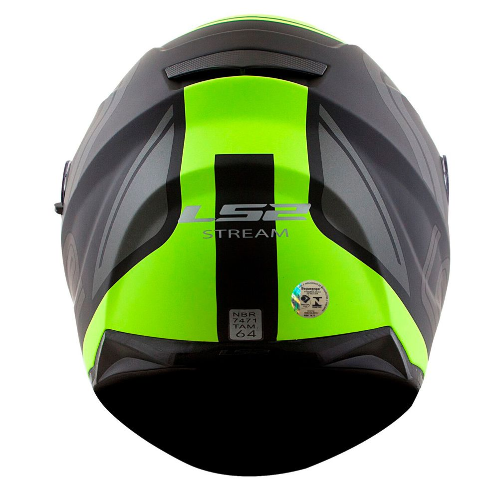 Capacete Ls2 FF320 Stream Orbital - Black/Grey/Yellow - C/ Viseira Solar   - Nova Suzuki Motos e Acessórios