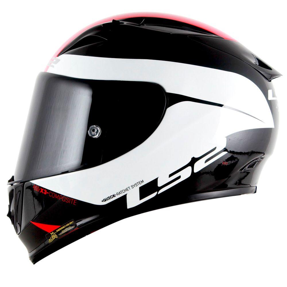 CAPACETE LS2 FF323 ARROW R COMET - Black White - Nova Suzuki Motos e  Acessórios ... 755be6923a3