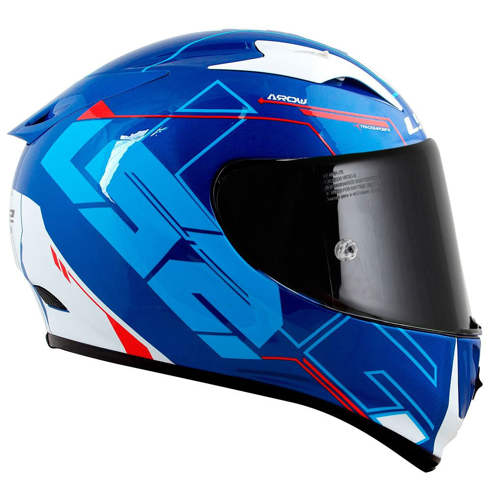 Capacete LS2 FF323 Arrow R techno White/Blue/Red  - Nova Suzuki Motos e Acessórios
