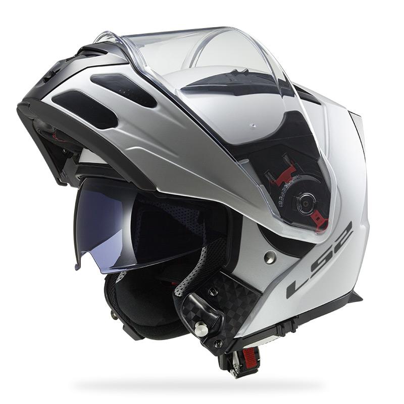 Capacete LS2 FF324 Metro Monocolor White Escamoteável  - Nova Suzuki Motos e Acessórios