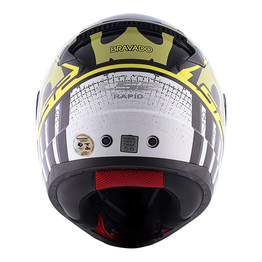 Capacete LS2 FF353 Rapid Bravado - camo/amarelo  - Nova Suzuki Motos e Acessórios
