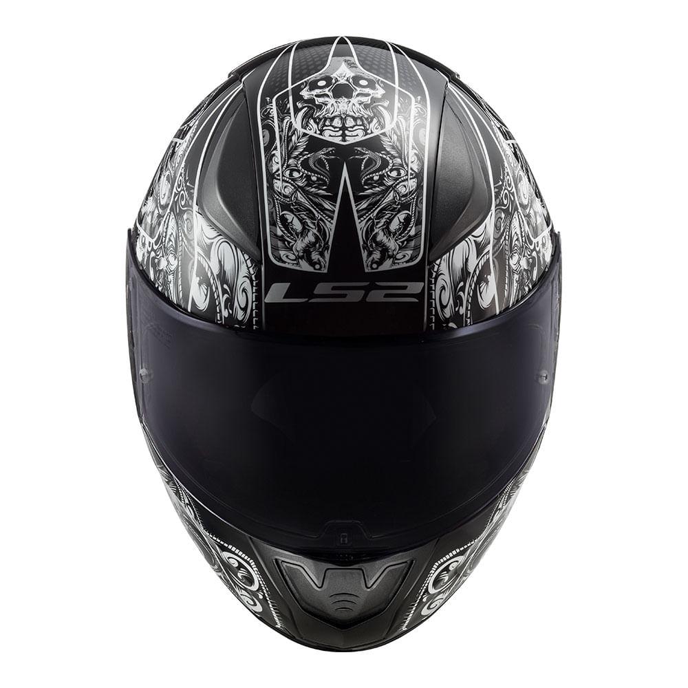 Capacete LS2 FF353 Rapid Crypt - preto/branco  - Nova Suzuki Motos e Acessórios