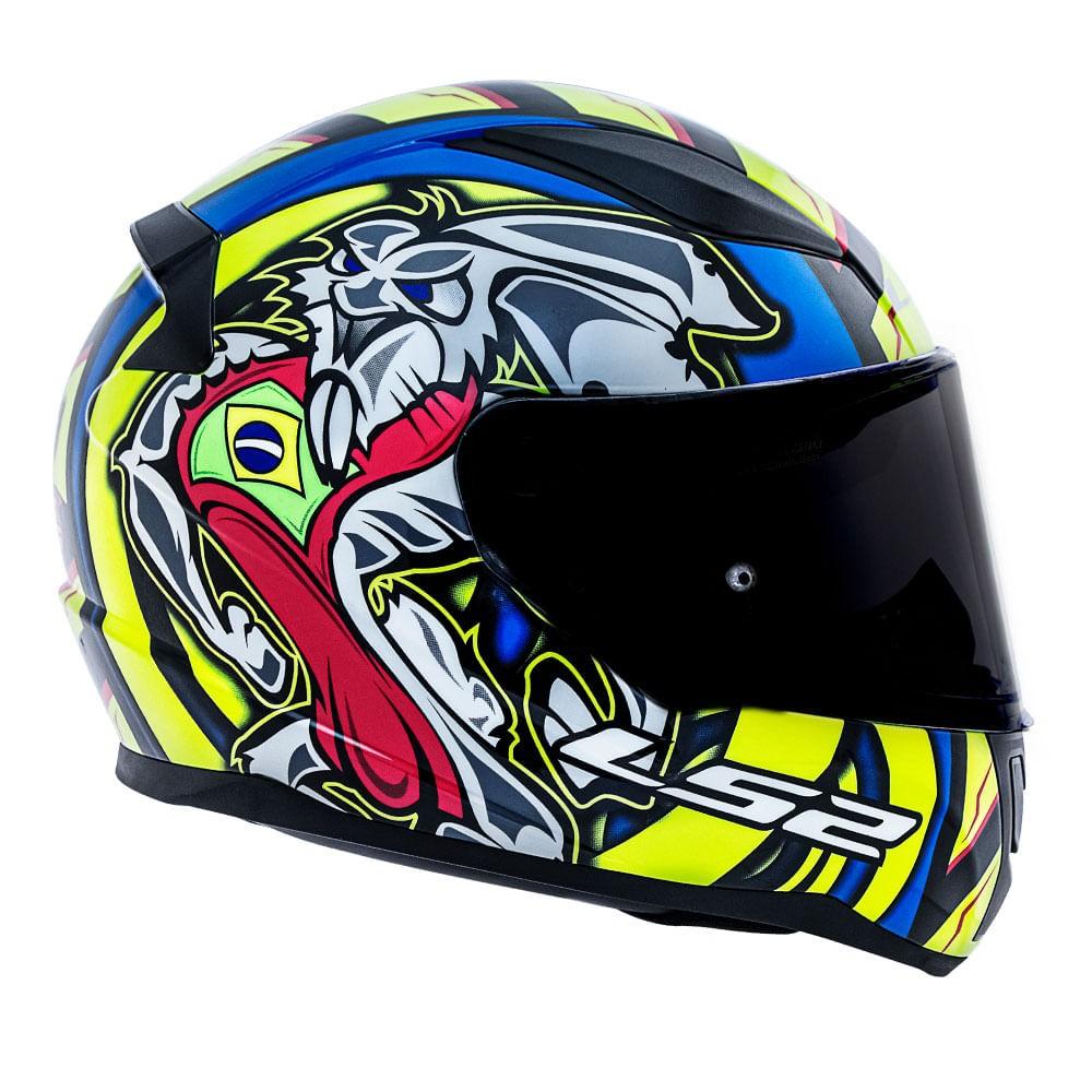 Capacete LS2 FF353 Rapid Réplica Alex Barros - azul  - Nova Suzuki Motos e Acessórios