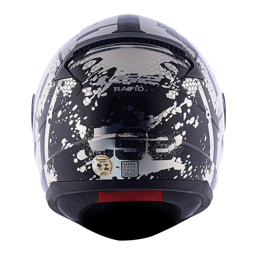 Capacete LS2 FF353 Rapid Spy - Preto/cinza  - Nova Suzuki Motos e Acessórios