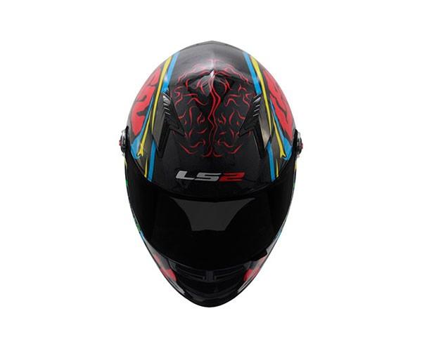 Capacete LS2 FF358 Crazy Skull Blk/Blue  - Nova Suzuki Motos e Acessórios