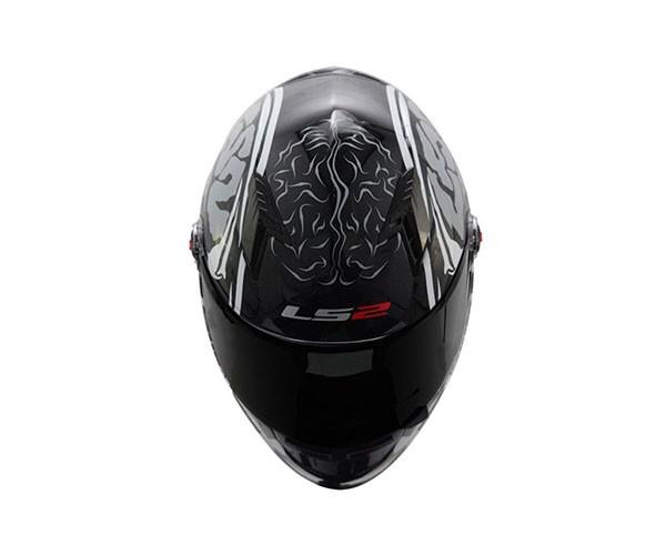 Capacete LS2 FF358 Crazy Skull Blk/Wht  - Nova Suzuki Motos e Acessórios