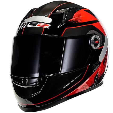 Capacete LS2 FF358 Stingers Vermelho  - Nova Suzuki Motos e Acessórios