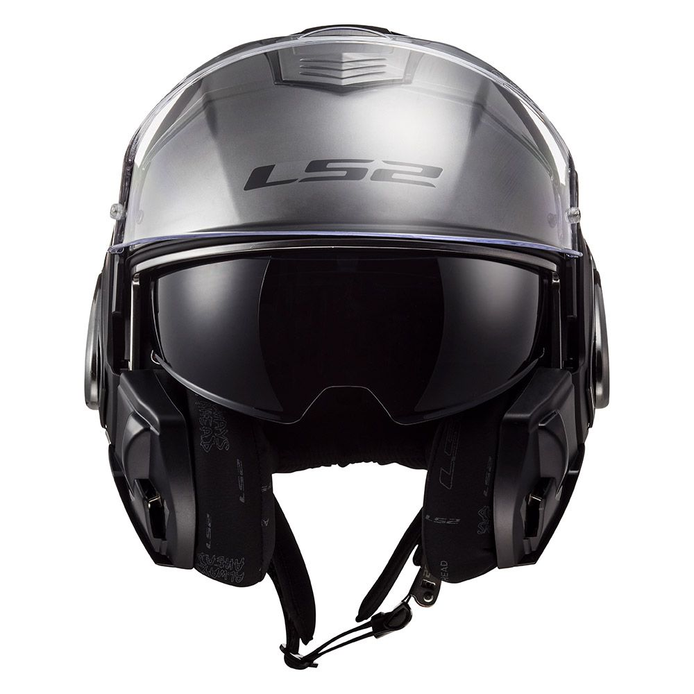 Capacete LS2 FF399 Valiant Jeans Titanium - Escamoteável  - Nova Suzuki Motos e Acessórios