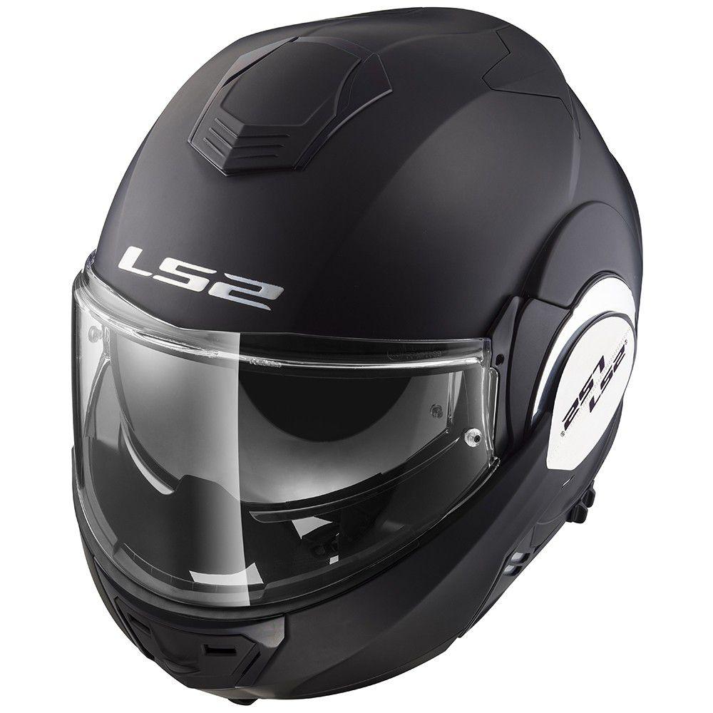 Capacete LS2 FF399 Valiant Matt Black - Escamoteável  - Nova Suzuki Motos e Acessórios
