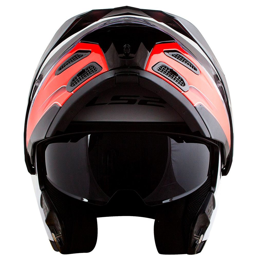 Capacete LS2 Metro Evo FF324 Rapid Articulado - White/Red  - Nova Suzuki Motos e Acessórios