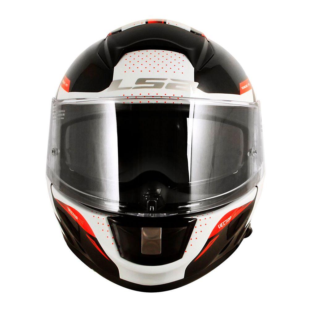 Capacete LS2 Vector FF397 Evo Favorer - Black/White/Red  - Nova Suzuki Motos e Acessórios