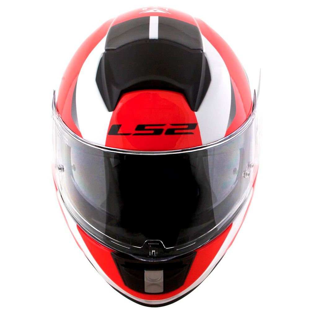 Capacete LS2 Vector FF397 Evo Wavy - Black/White/Red  - Nova Suzuki Motos e Acessórios