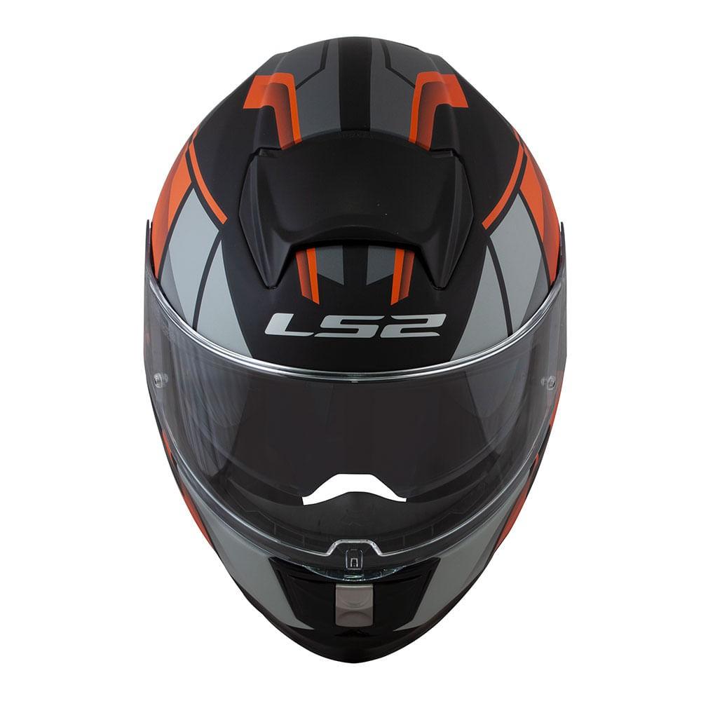Capacete LS2 Vector FF397 FT2 Krypton - Laranja  - Nova Suzuki Motos e Acessórios
