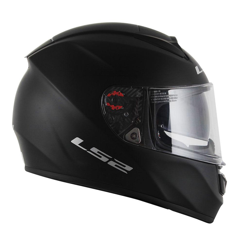 Capacete LS2 Vector FF397 Monocolor - Preto Fosco  - Nova Suzuki Motos e Acessórios