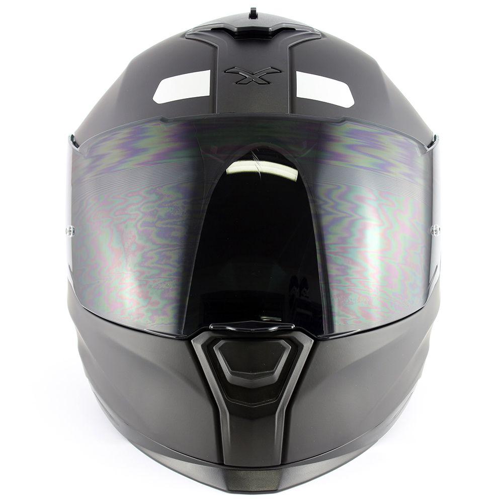 Capacete Nexx SX100 Core Preto Fosco Com Viseira Solar Com Viseira Solar e Pinlock Anti-Embaçante (k3)  - Nova Suzuki Motos e Acessórios