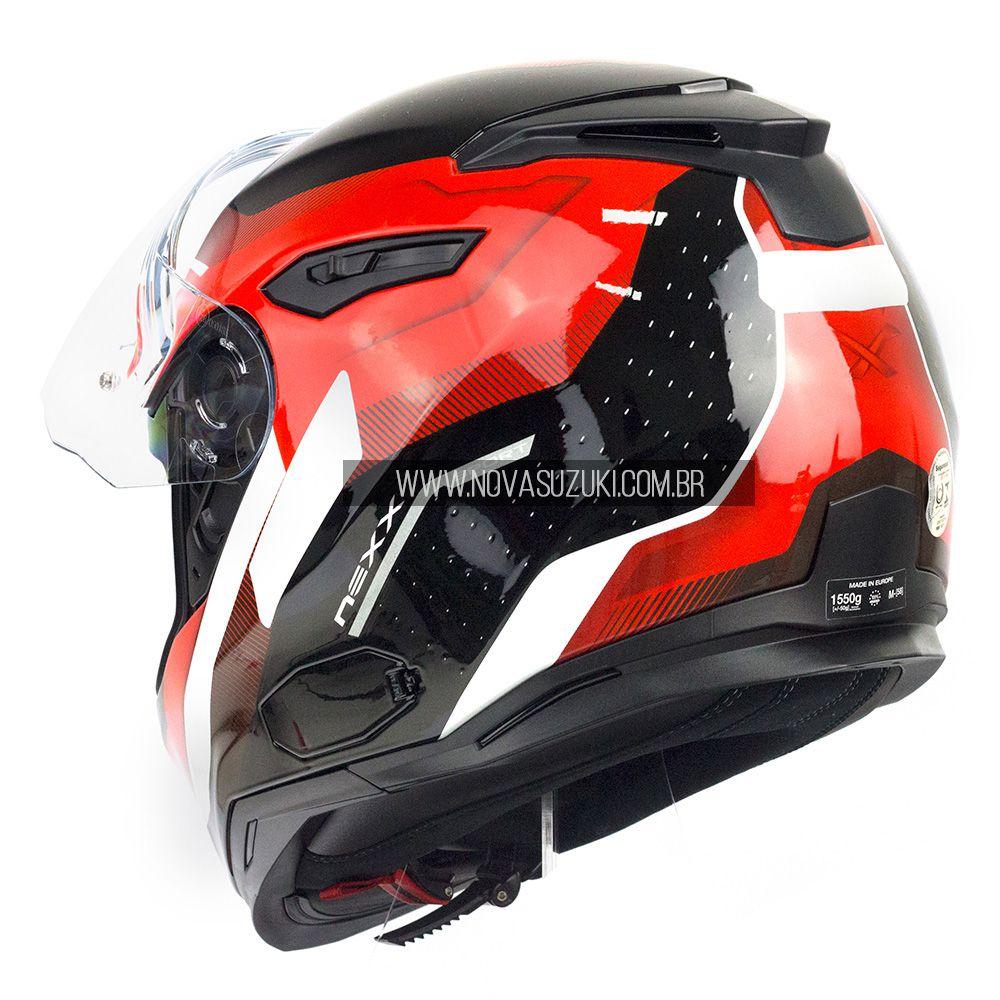 Capacete Nexx SX100 Mantik Preto Com Viseira Solar e Pinlock Anti-Embaçante (k3)  - Nova Suzuki Motos e Acessórios