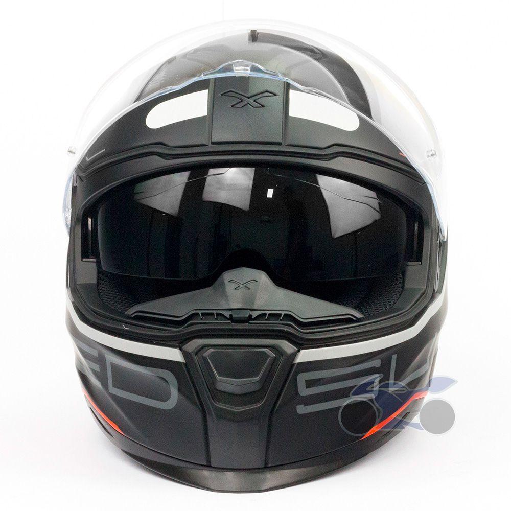 Capacete Nexx SX100 Super Speed Preto Fosco Com Viseira Solar e Pinlock Anti-Embaçante  - Nova Suzuki Motos e Acessórios