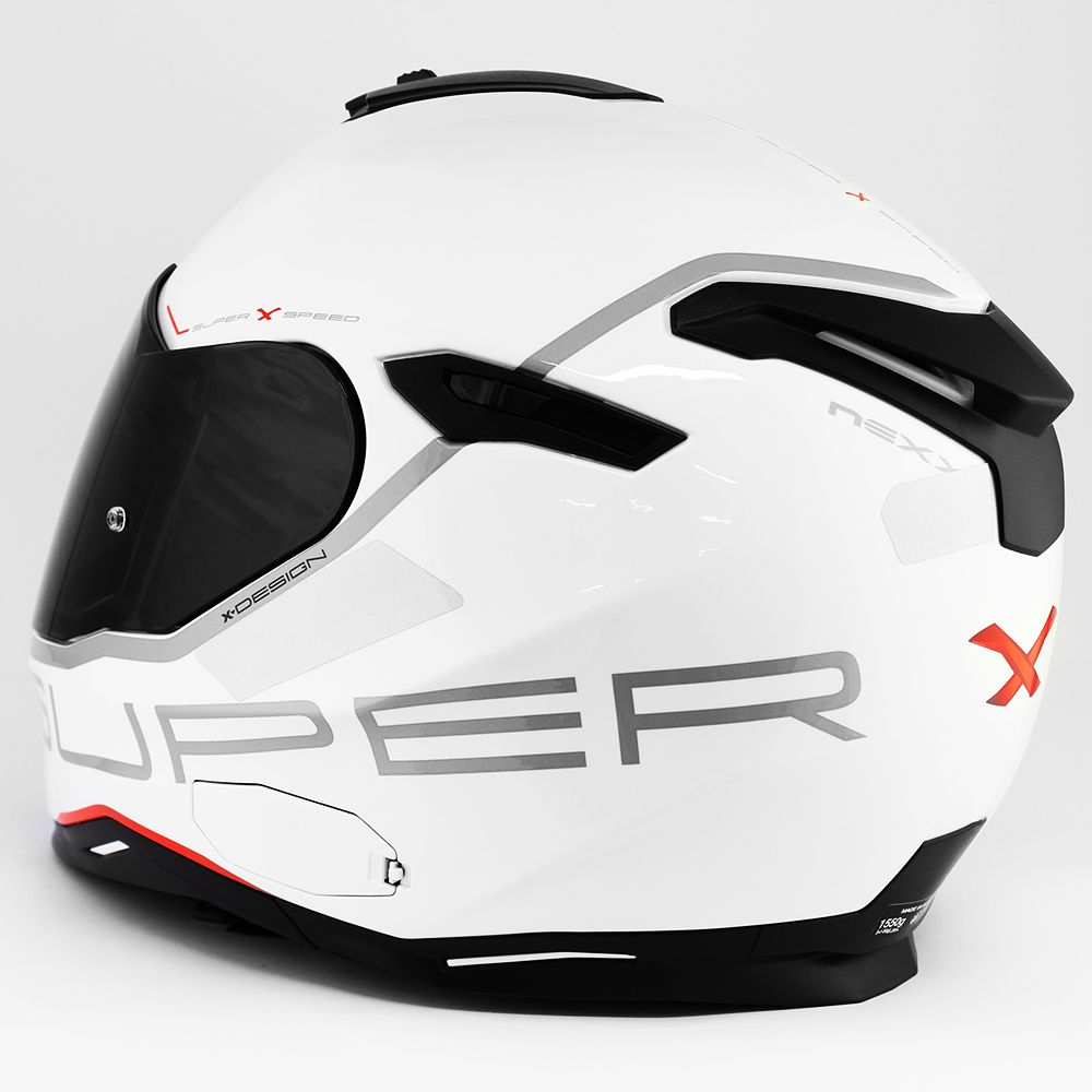 Capacete Nexx SX100 Super Speed Branco Com Viseira Solar e Pinlock Anti-Embaçante  - Nova Suzuki Motos e Acessórios