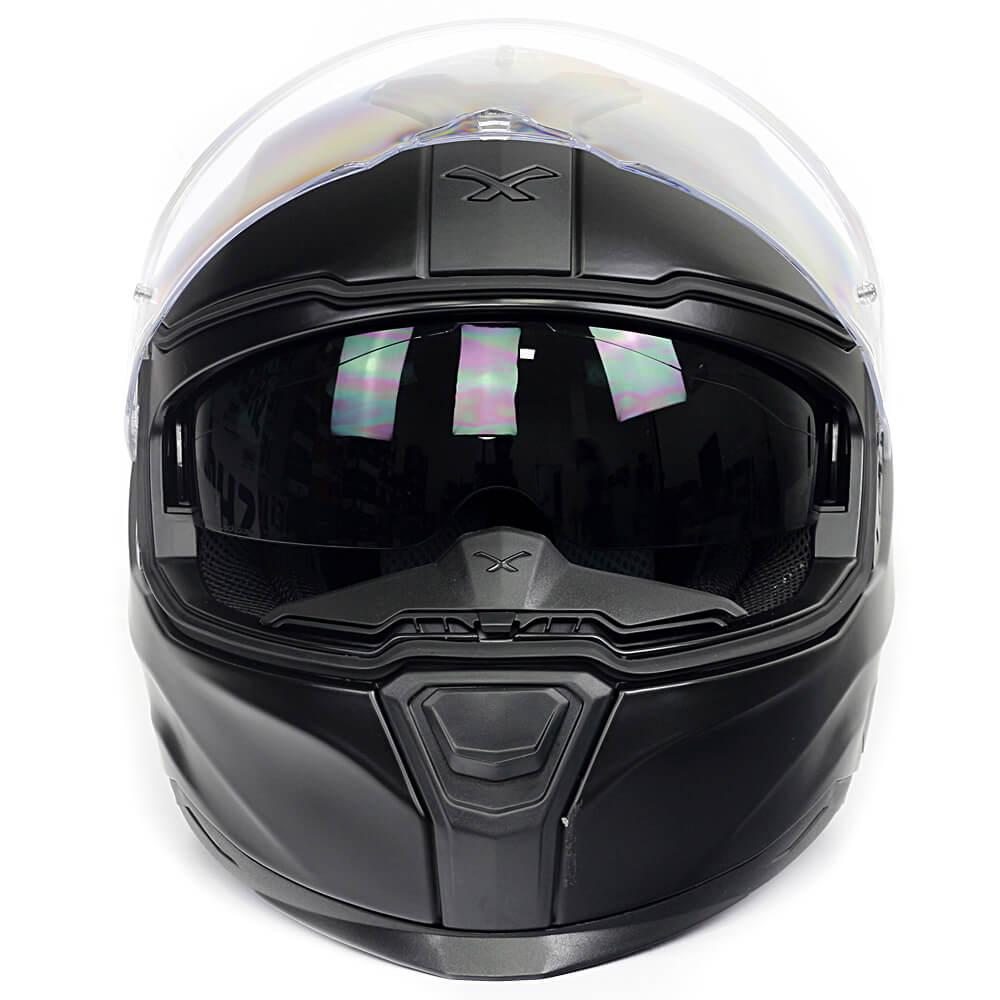 Capacete Nexx SX100R Preto Fosco C/ Viseira Solar - BRINDE Pinlock Anti-Embaçante  - Nova Suzuki Motos e Acessórios
