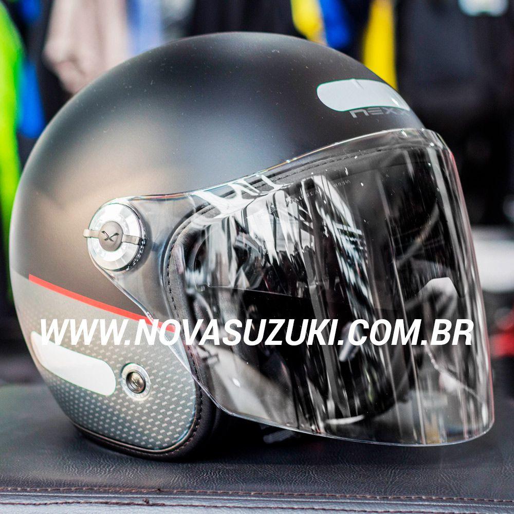 Capacete Nexx X70 City Preto Fosco Tri-Composto - Aberto  - Nova Suzuki Motos e Acessórios