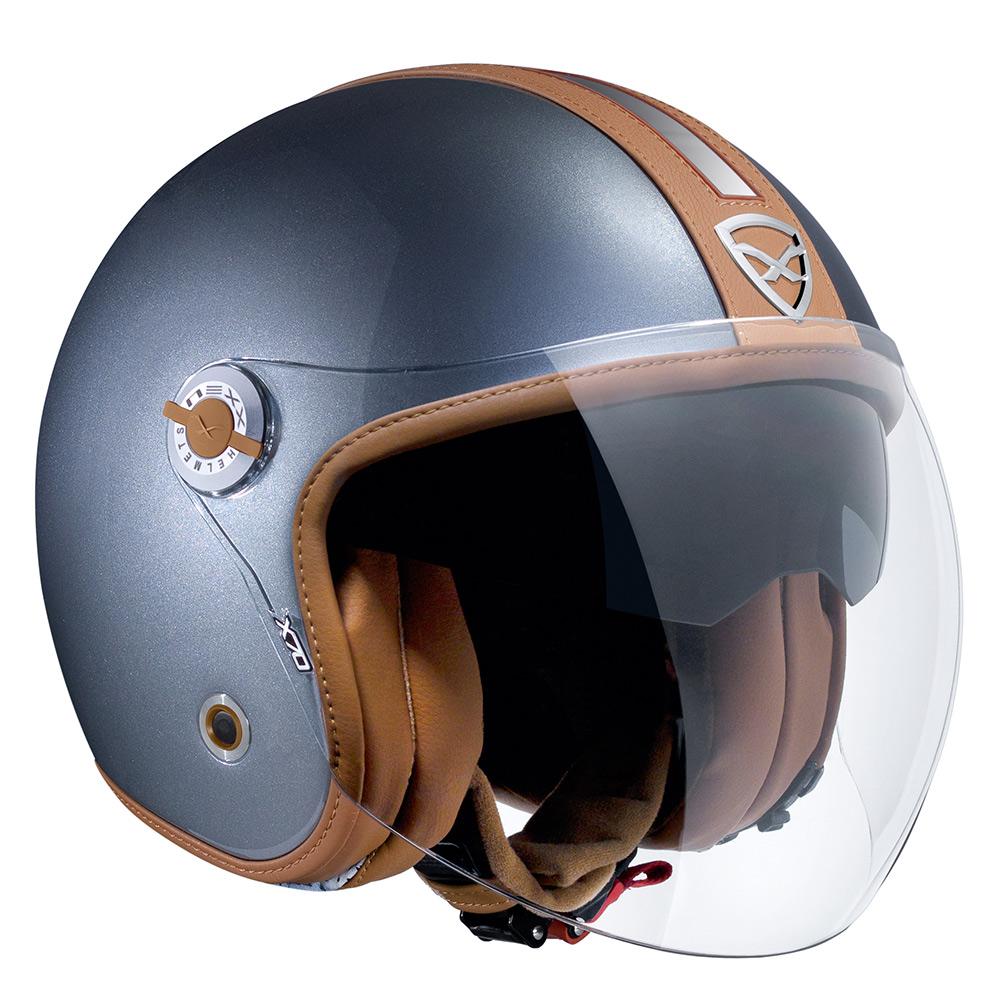 Capacete Nexx X70 Groovy Titânio c/ Caramelo   - Nova Suzuki Motos e Acessórios