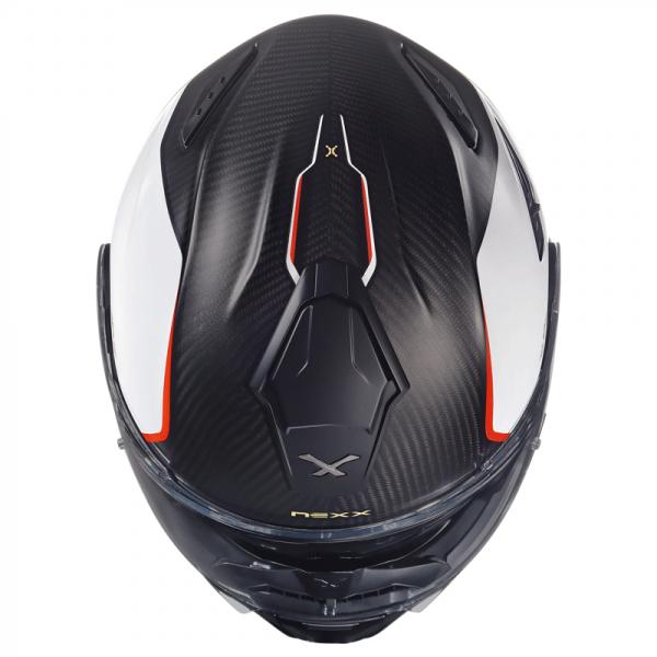 Capacete Nexx X-Vilitur Hyper CARBONO/Branco Com Viseira Solar Articulado  - Nova Suzuki Motos e Acessórios