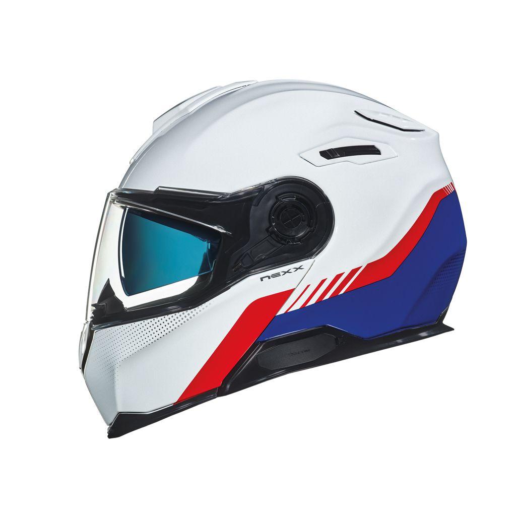 Capacete Nexx X-Vilitur Latitude  WHITE/BLUE  - Nova Suzuki Motos e Acessórios