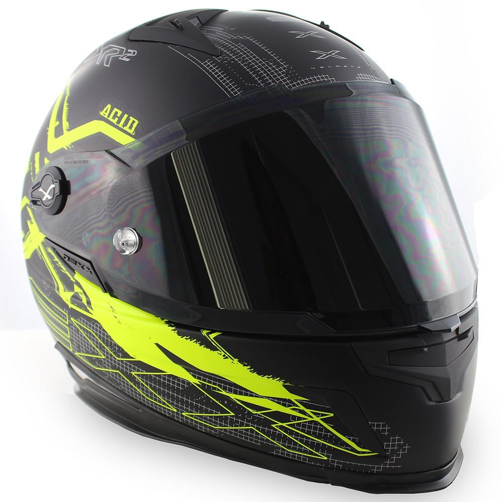 Capacete Nexx XR2 Acid Neon Amarelo Tri-Composto  - Nova Suzuki Motos e Acessórios