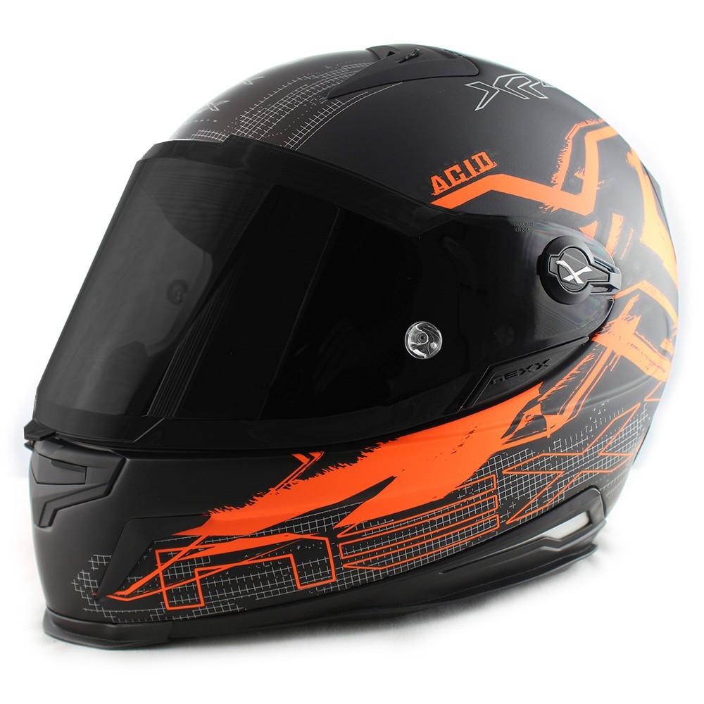 Capacete Nexx XR2 Acid Neon Laranja Tri-Composto  - Nova Suzuki Motos e Acessórios