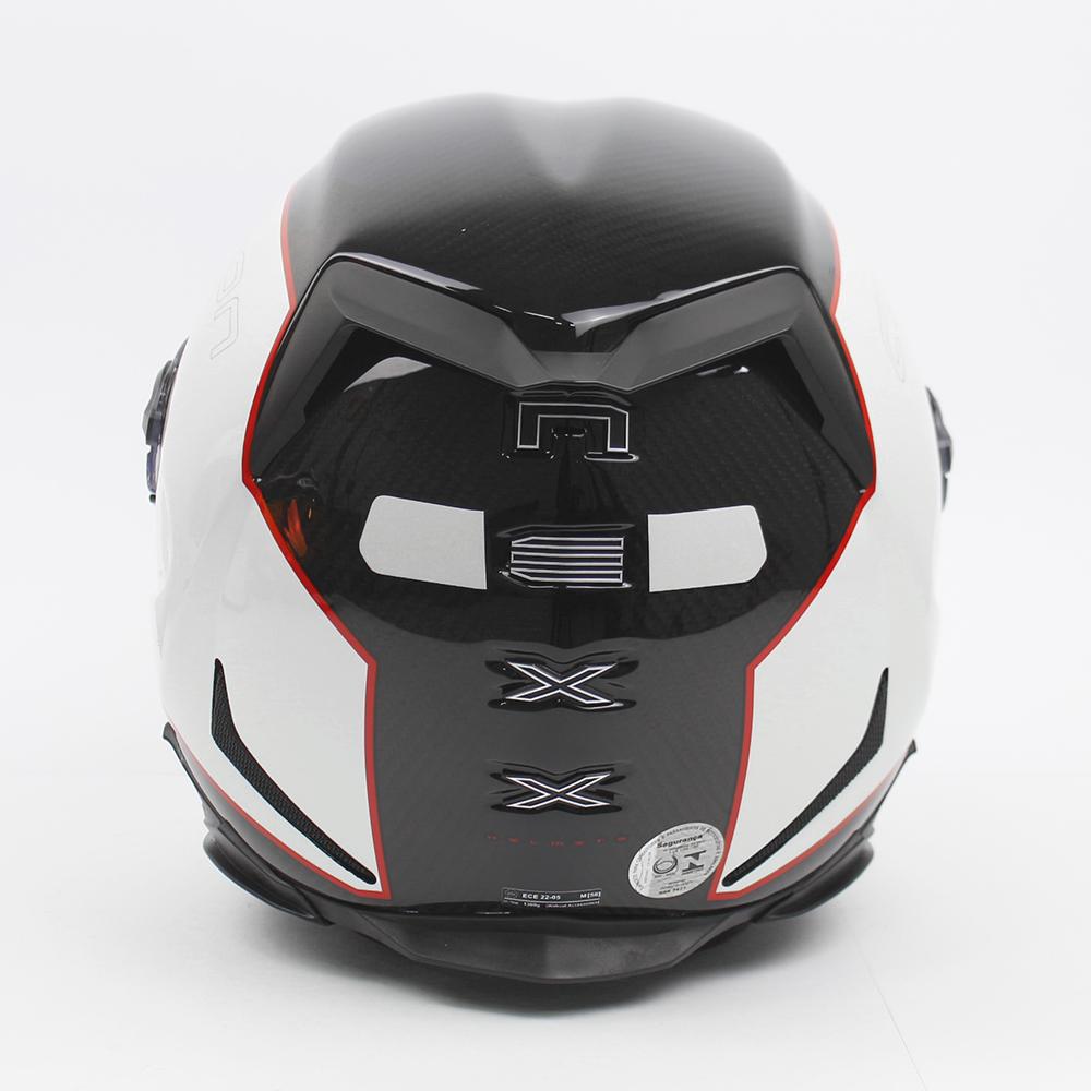 Capacete Nexx XR2 Carbon Branco Brinde - Ganhe Viseira Fumê + Pinlock Anti-Embaçante  - Nova Suzuki Motos e Acessórios