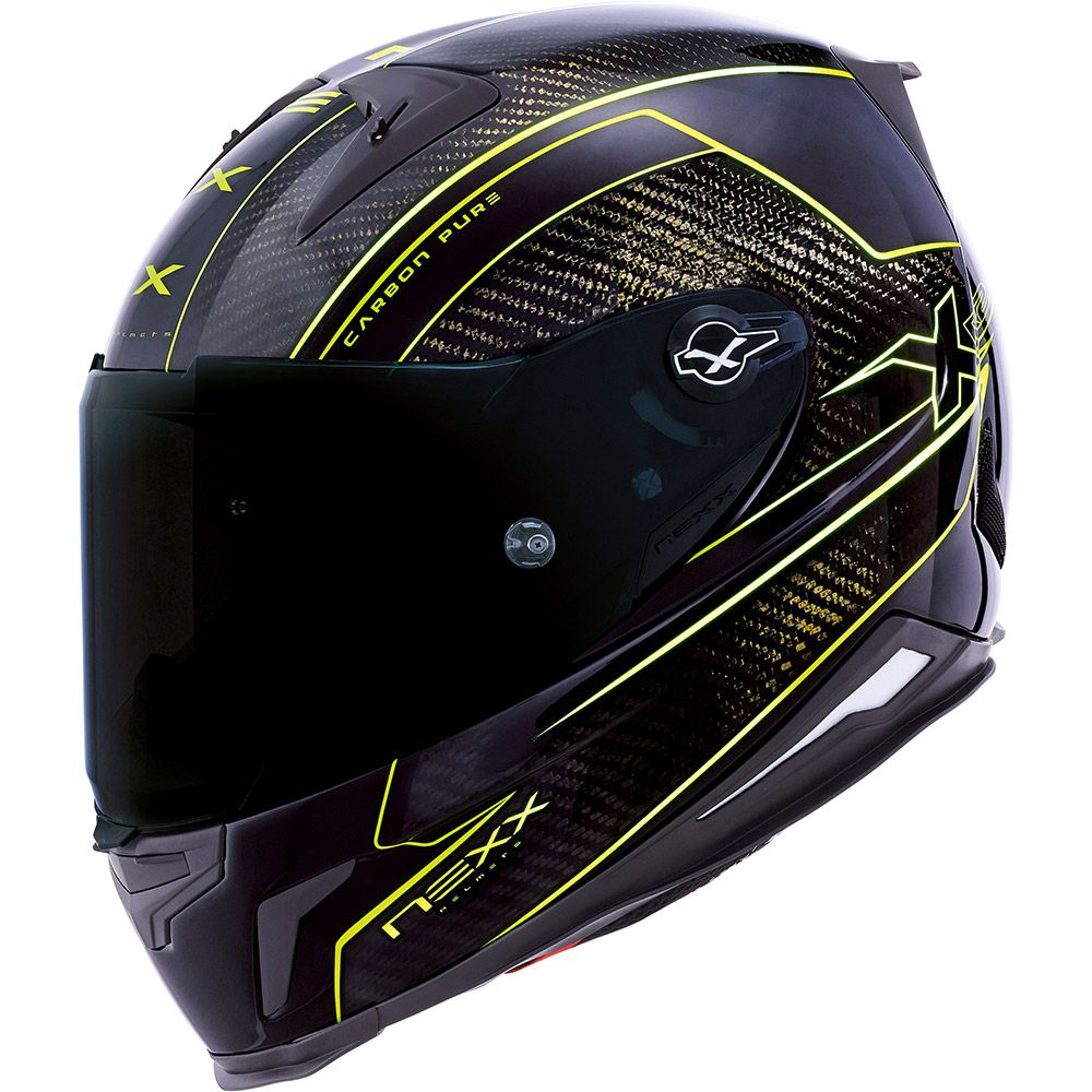 Capacete Nexx XR2 Carbon Pure Neon (Só 60/L)  - Nova Suzuki Motos e Acessórios