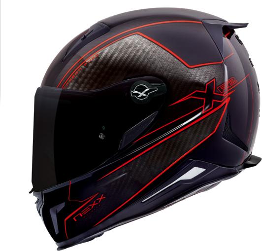 Capacete Nexx XR2 Carbon Pure Vermelho  - Nova Suzuki Motos e Acessórios