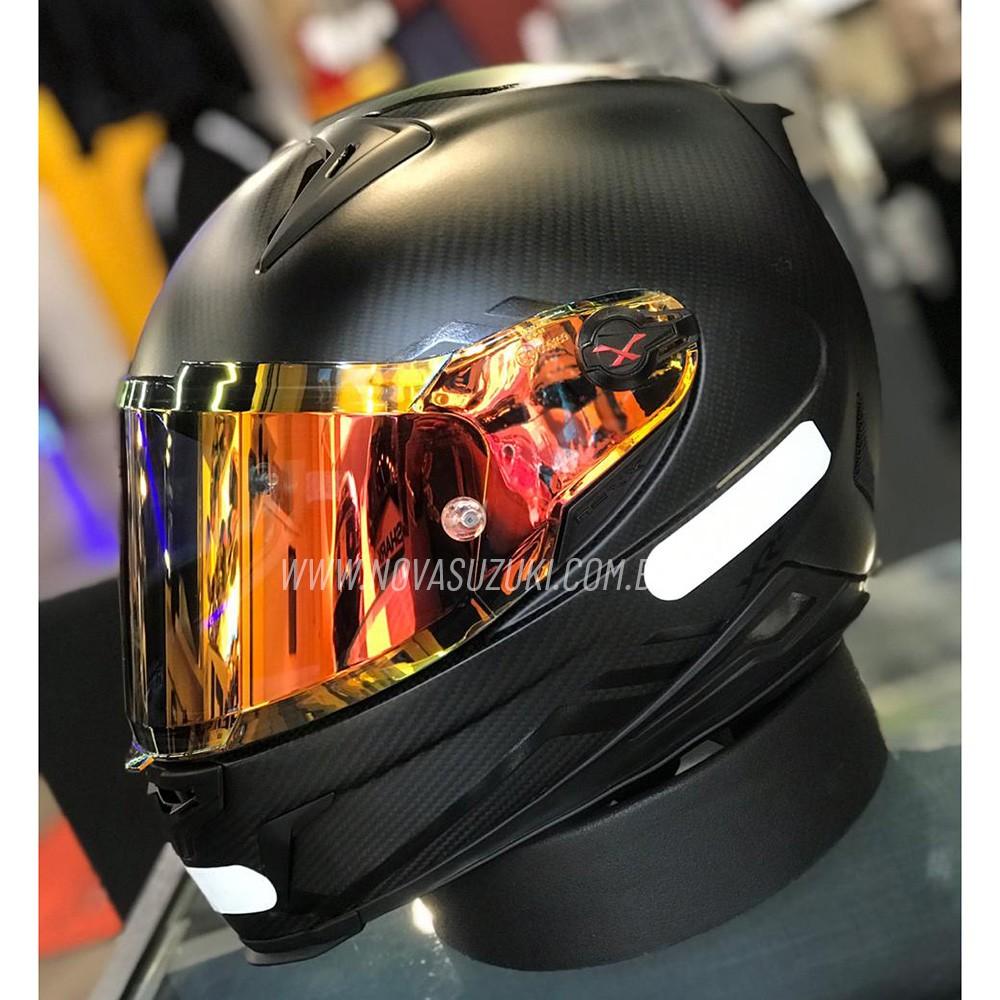 Capacete Nexx XR2 Carbon Redline Preto/Vermelho - Acompanha Viseira Vermelha e Cristal - Brinde Pinlock  - Nova Suzuki Motos e Acessórios
