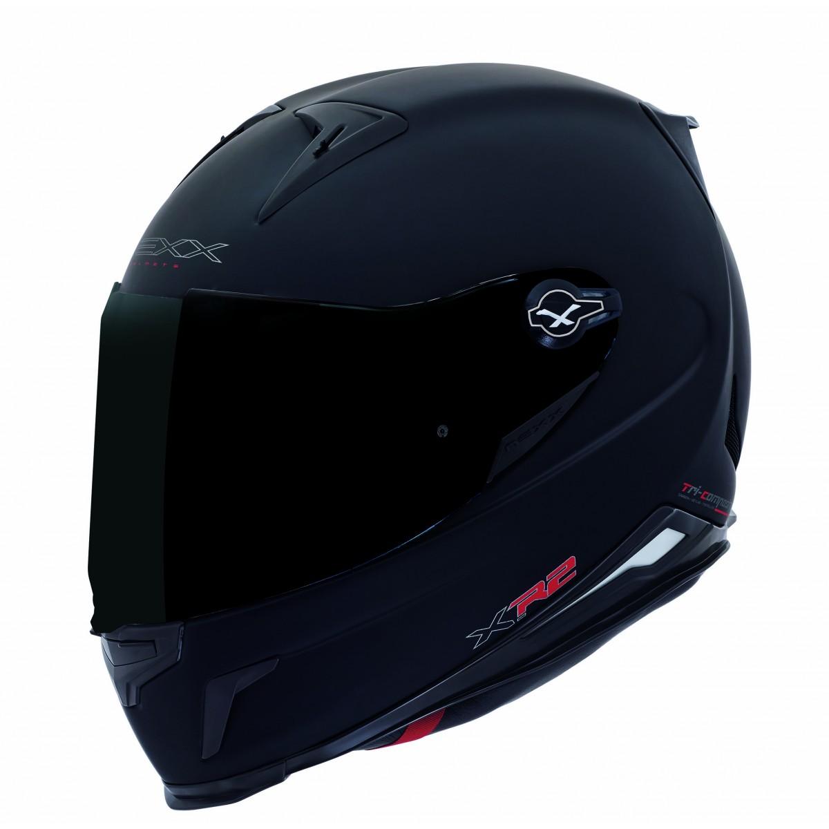Capacete Nexx XR2 Plain Preto Fosco  - Nova Suzuki Motos e Acessórios