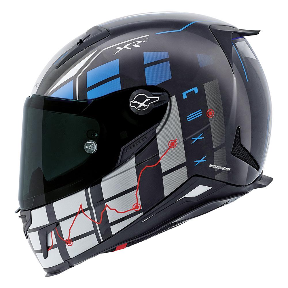 Capacete Nexx XR2 Vírus Azul Tri-Composto - NOVO!  - Nova Suzuki Motos e Acessórios